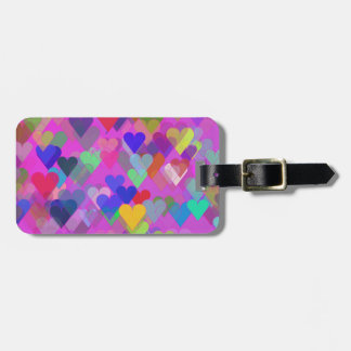 Floating Rainbow Heart Luggage Tag