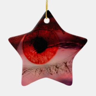 Floating Red Eye Art Ceramic Ornament