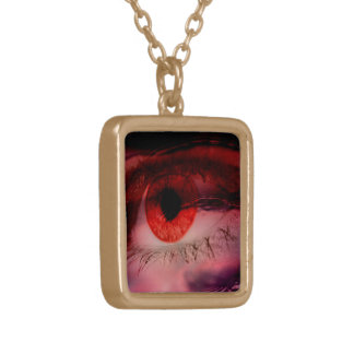 Floating Red Eye Art Necklace