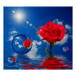 Floating Reflections of Love Print