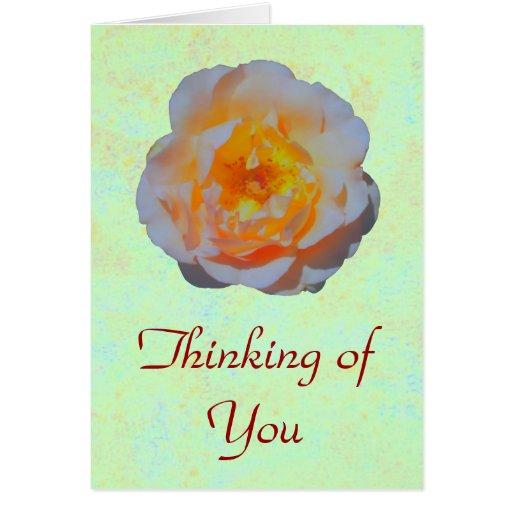 Floating Rose card