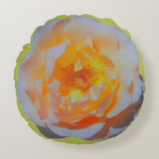 Floating Rose Round Pillow
