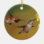 Floating Rufous Hummingbird Christmas Ornament