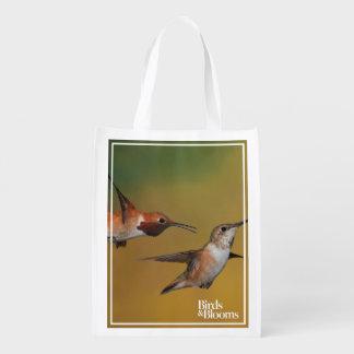 Floating Rufous Hummingbird Reusable Grocery Bag