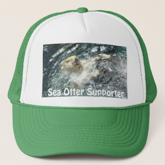 "Floating Sea Otter ""Sea Otter Crazy!"" Trucker Hat"