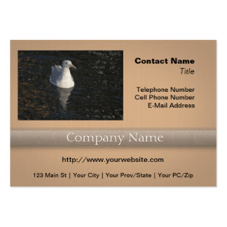 Floating Seagull Large Business Card