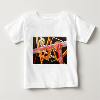 Floating Shapes - Abstract Art Geometric Baby T-Shirt