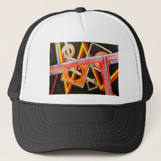 Floating Shapes - Abstract Art Geometric Trucker Hat