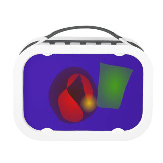 Floating Shapes Purple Hue Lunchbox