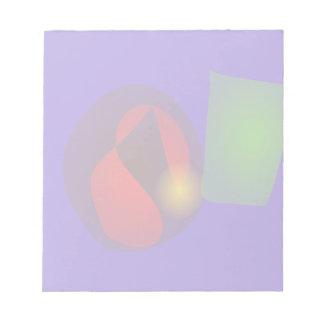 Floating Shapes Purple Hue Notepad