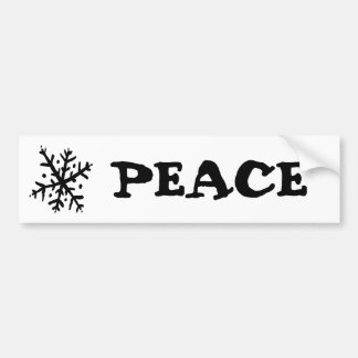 Floating Snowflake 02 - nd Car Bumper Sticker