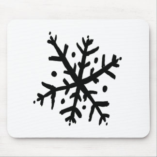 Floating Snowflake 02 - nd Mouse Pad