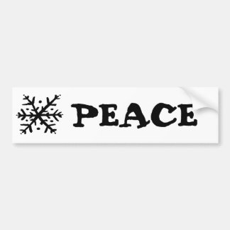 Floating Snowflake - nd Car Bumper Sticker