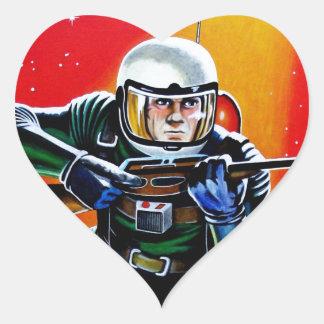 FLOATING SPACEMAN HEART STICKER