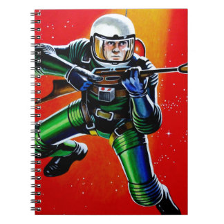 FLOATING SPACEMAN SPIRAL NOTEBOOK