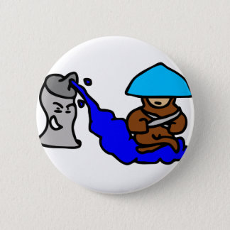Floating Spray Paint Guy Button