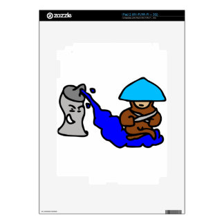 Floating Spray Paint Guy Decal For iPad 2