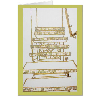 Floating Stairs Greeting Card