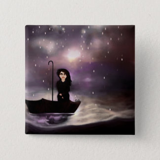 Floating through a coloured perfect world. pinback button