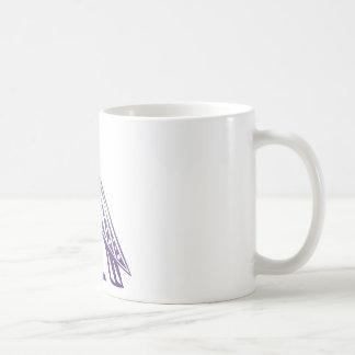 floating through the sky. coffee mug