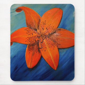 Floating Tiger Lily Mouse Pad
