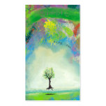 Floating tree colorful modern art In Motion Simple Double-Sided Standard Business Cards (Pack Of 100)