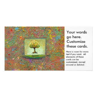 Floating tree earthy natural unique painting art photo cards