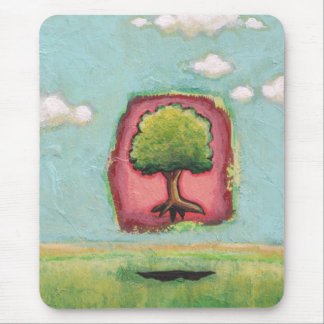 Floating tree fun contemporary art On Your Own Mouse Pad