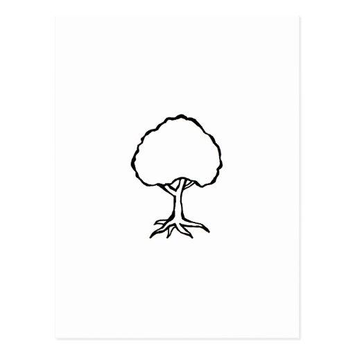 Floating tree - fun original design symbol art postcard