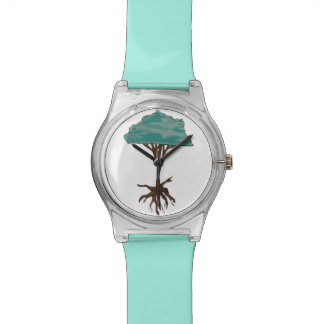 Floating Tree Wrist Watch