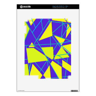 Floating Triangles Skins For iPad 2