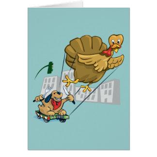 Floating Turkey Dinner Card