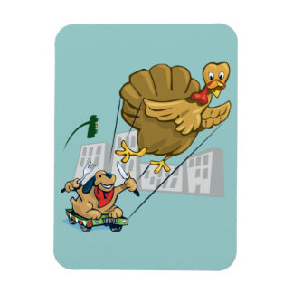 Floating Turkey Dinner Magnet