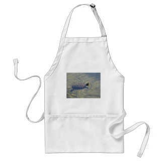 Floating turtle swimming in a pond adult apron