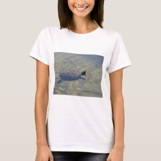 Floating turtle swimming in a pond T-Shirt