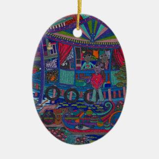 Floating Village Ceramic Ornament