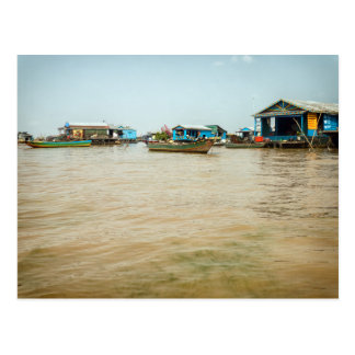 Floating Village, Houses & Boats, Cambodia Postcard