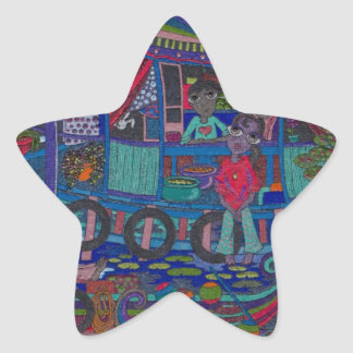 Floating Village Star Sticker
