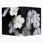 Floating White Blossoms Floral Avery Binder