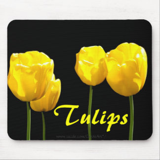"""Floating"" Yellow Tulips Mouse Pads"