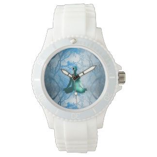 Floating Yogi in the Trees (blue) Wristwatch