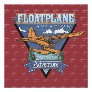 Floatplane Aviation Adventure Poster