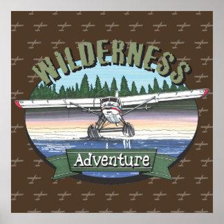 Floatplane Aviation Wilderness Adventure Poster