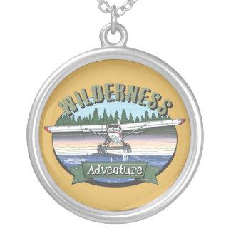 Floatplane Aviation Wilderness Adventure Silver Plated Necklace