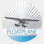 Floatplane Etiqueta Redonda