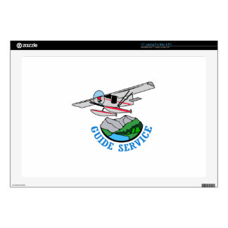 "Floatplane Guide Service Decals For 17"" Laptops"