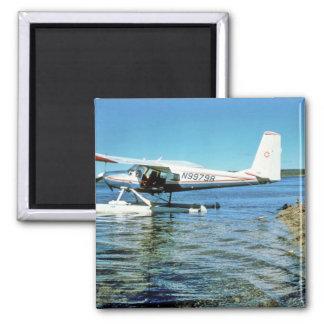 Floatplane N99798 en el lago graphite Imanes De Nevera
