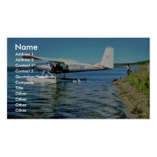 Floatplane N99798 on Graphite Lake Business Card