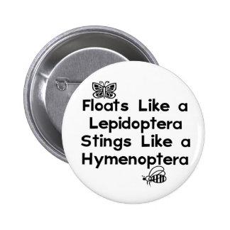Floats Lepidoptera Button