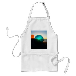 Floats red and green at sunset adult apron